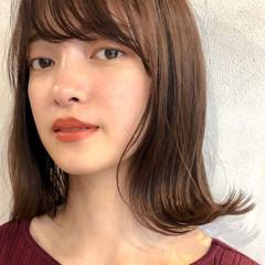 透明感 ナチュラル ミディアム 女子力 ヘアスタイルや髪型の写真・画像
