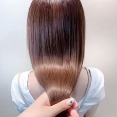 かきあげバング ロング シースルーバング サイエンスアクア ヘアスタイルや髪型の写真・画像