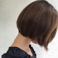 前髪あり 外国人風 ボブ ハイライト ヘアスタイルや髪型の写真・画像