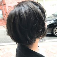 ショートボブ ボブ 大人女子 ショート ヘアスタイルや髪型の写真・画像