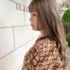 ハイトーンカラー 外国人風カラー 透明感カラー グレージュ ヘアスタイルや髪型の写真・画像