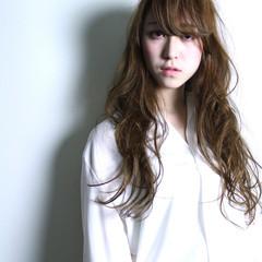 ブラウン 外国人風 大人かわいい ナチュラル ヘアスタイルや髪型の写真・画像