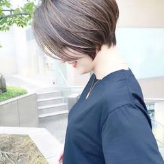 ナチュラル ショート ショートヘア ひし形シルエット ヘアスタイルや髪型の写真・画像