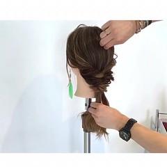 ロング フェミニン ショート ポニーテール ヘアスタイルや髪型の写真・画像