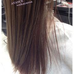 マニッシュ ロング ウェーブ インナーカラー ヘアスタイルや髪型の写真・画像