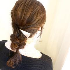 ヘアアレンジ ルーズ 後れ毛 ロング ヘアスタイルや髪型の写真・画像