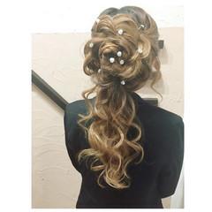 ヘアアレンジ 甘め ロング ゆるふわ ヘアスタイルや髪型の写真・画像