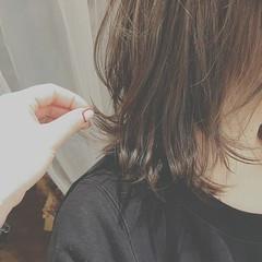 デート ゆるふわ ミディアム 大人かわいい ヘアスタイルや髪型の写真・画像