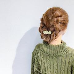 簡単ヘアアレンジ セミロング デート ヘアアレンジ ヘアスタイルや髪型の写真・画像
