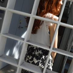 OL オフィス ロング オレンジ ヘアスタイルや髪型の写真・画像