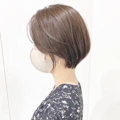 横顔美人 コンサバ 大人ショート ショート ヘアスタイルや髪型の写真・画像