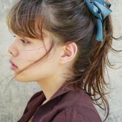 ナチュラル ヘアアレンジ 簡単ヘアアレンジ デート ヘアスタイルや髪型の写真・画像