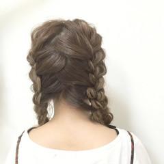 波ウェーブ モテ髪 愛され ヘアアレンジ ヘアスタイルや髪型の写真・画像