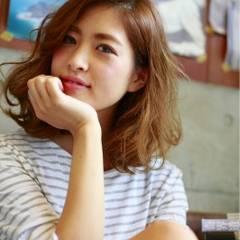 ゆるふわ 大人かわいい ミディアム フェミニン ヘアスタイルや髪型の写真・画像