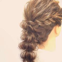 ロング アンニュイほつれヘア 結婚式 簡単ヘアアレンジ ヘアスタイルや髪型の写真・画像