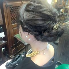 ギブソンタック ヘアアレンジ 大人かわいい フェミニン ヘアスタイルや髪型の写真・画像
