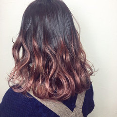 波ウェーブ 春 ミディアム ブリーチ ヘアスタイルや髪型の写真・画像