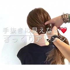簡単ヘアアレンジ ヘアアレンジ フェミニン アウトドア ヘアスタイルや髪型の写真・画像