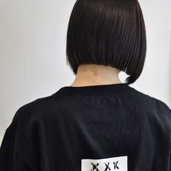 ストレート 黒髪 暗髪 アッシュ ヘアスタイルや髪型の写真・画像