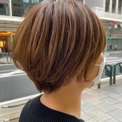 ショートボブ ショート ナチュラル ショートヘア ヘアスタイルや髪型の写真・画像