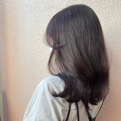 ウルフカット 外国人風カラー ラベンダーピンク ブリーチなし ヘアスタイルや髪型の写真・画像