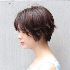 ナチュラル ショートヘア ショート デート ヘアスタイルや髪型の写真・画像