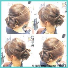 大人かわいい 結婚式 ヘアアレンジ セミロング ヘアスタイルや髪型の写真・画像