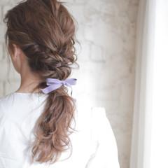 パーティ フェミニン ヘアアレンジ セミロング ヘアスタイルや髪型の写真・画像