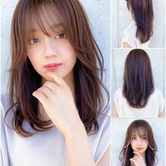 鎖骨ミディアム ミディアムレイヤー レイヤー 小顔 ヘアスタイルや髪型の写真・画像