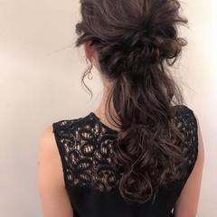 ロング ナチュラル 結婚式 ゆるふわ ヘアスタイルや髪型の写真・画像