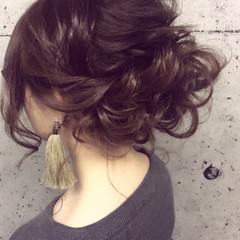 ヘアアレンジ エレガント アップスタイル 編み込み ヘアスタイルや髪型の写真・画像