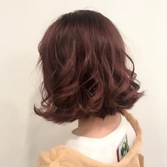 ゆるふわ ガーリー ラベンダーピンク ウェーブ ヘアスタイルや髪型の写真・画像