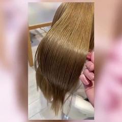 髪質改善カラー トリートメント 髪質改善 艶髪 ヘアスタイルや髪型の写真・画像