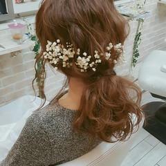 簡単ヘアアレンジ ヘアアレンジ ショート 結婚式 ヘアスタイルや髪型の写真・画像