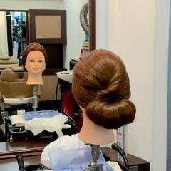 結婚式 アップスタイル ヘアアレンジ セミロング ヘアスタイルや髪型の写真・画像