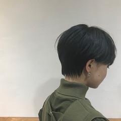 N.オイル 黒髪ショート ショート モード ヘアスタイルや髪型の写真・画像