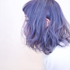 前髪あり 外国人風 ゆるふわ グラデーションカラー ヘアスタイルや髪型の写真・画像