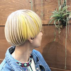 バレイヤージュ グレージュ ストリート スポーツ ヘアスタイルや髪型の写真・画像