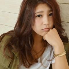 ゆるふわ ヘアアレンジ 大人かわいい マルサラ ヘアスタイルや髪型の写真・画像