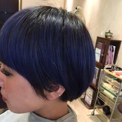 マッシュ モード ショート ダブルカラー ヘアスタイルや髪型の写真・画像