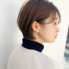 インナーカラー ショートボブ ベリーショート フェミニン ヘアスタイルや髪型の写真・画像