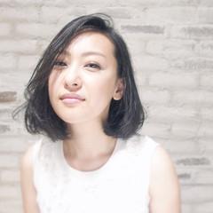 黒髪 ミディアム 大人女子 コンサバ ヘアスタイルや髪型の写真・画像