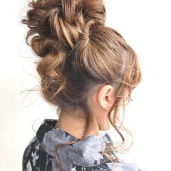 ナチュラル ヘアアレンジ お団子 結婚式 ヘアスタイルや髪型の写真・画像