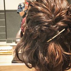 ヘアアレンジ ゆるふわ ボブ フェミニン ヘアスタイルや髪型の写真・画像