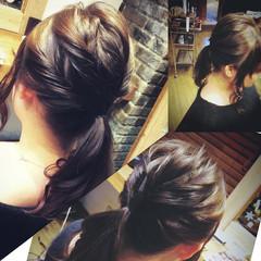 ミディアム ヘアアレンジ フェミニン ゆるふわ ヘアスタイルや髪型の写真・画像