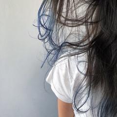 ブルージュ 暗髪 ストリート セミロング ヘアスタイルや髪型の写真・画像