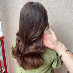 韓国ヘア エレガント セミロング オルチャン ヘアスタイルや髪型の写真・画像
