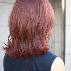 外ハネ 外国人風カラー ボブ ミディアム ヘアスタイルや髪型の写真・画像