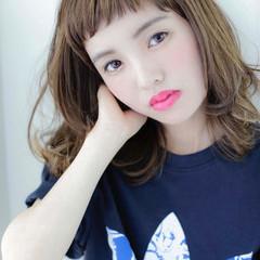 前髪あり セミロング ナチュラル 透明感 ヘアスタイルや髪型の写真・画像