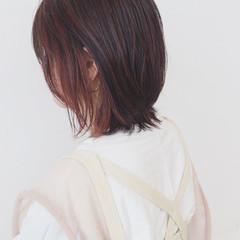 ピンク インナーカラー グラデーションカラー ボブ ヘアスタイルや髪型の写真・画像